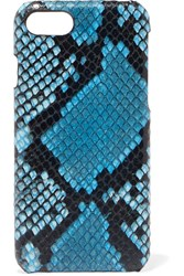 The Case Factory Python Effect Leather Iphone 7 And 8 Plus Blue