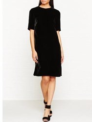Jigsaw Velvet Tunic Dress Black