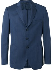 Tonello Pocket Front Blazer Blue