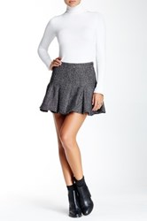 Bcbgeneration Faux Leather Contrast Skirt Gray