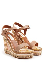 Valentino Leather Wedges Multicolor