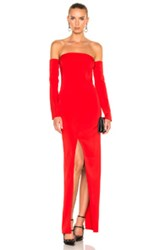 Thierry Mugler Viscose Cady Gown In Red