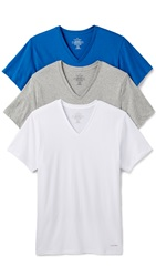 Calvin Klein Underwear Cotton Classic V Neck Tee 3 Pack Blueprint Multi