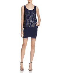 Laundry By Shelli Segal Bead Embellished Dress Midnight