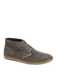 Johnston And Murphy Mcguffey Suede Chukka Sneakers Grey