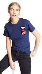 Michaela Buerger Perfume Bottle Tee Dark Blue