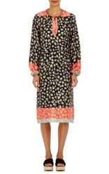 Warm Women's Ohana Floral Silk Tunic Black