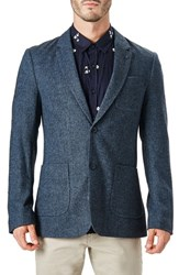7 Diamonds Men's Crotone Casual Blazer Indigo