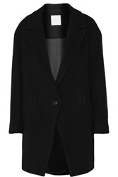 Mason By Michelle Mason Oversized Wool Blend Coat Black