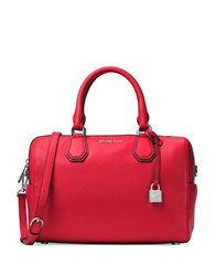 Michael Michael Kors Kors Studio Pebbled Leather Duffle Bag Bright Red