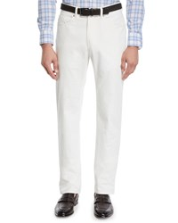 Peter Millar Soft Touch Twill Trousers Off White