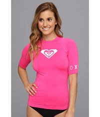 Roxy Whole Hearted S S Surf Shirt Hot Pink Women's Swimwear