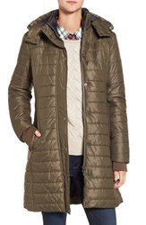 Barbour Women's Gaiter Hooded Quilted Coat Olfry