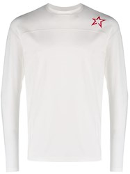Perfect Moment Star Print Long Sleeve Top White