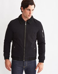 Only And Sons Mens Long Sleeve Short Bomber Jacket Black