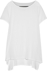 Enza Costa Asymmetric Modal Blend Jersey T Shirt White