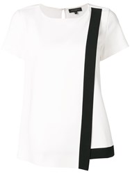 Antonelli Contrast Panel Blouse White