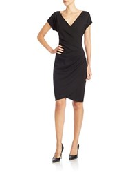 Anne Klein Faux Wrap Sheath Dress Black
