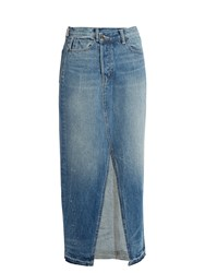 Helmut Lang Reconstructed Denim Skirt