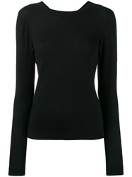 Michael Michael Kors Criss Cross Back Jumper Black