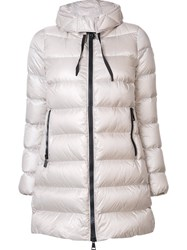 Moncler 'Suyen' Padded Coat Nude And Neutrals