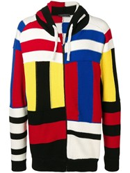 Tommy Hilfiger Striped Zipped Cardigan Red