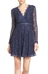Nsr Women's Lace Skater Dress Midnight