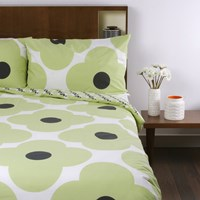 Orla Kiely Giant Flower Spot Print Duvet Cover Pistachio Single