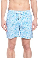 Danward Print Swim Trunks Light Blue