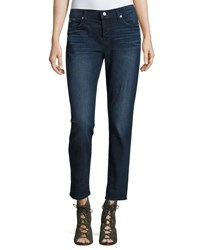 7 For All Mankind Josefina Skinny Boyfriend Jeans Dark Blue