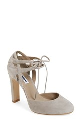 Dune Women's London 'Cannes' Lace Up D'orsay Pump Mink Suede
