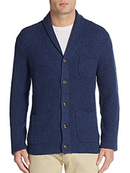 Saks Fifth Avenue Ribbed Cashmere Shawl Cardigan