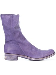 A Diciannoveventitre Slouched Boots Pink And Purple