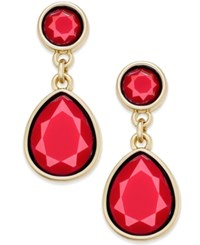 Charter Club Gold Tone Colored Stone Drop Earrings Only At Macy's