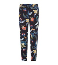 Maje Papaye Baroque Printed Trousers Female Navy