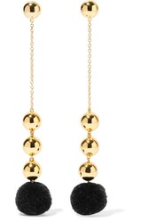 Elizabeth And James Boca Gold Plated Pompom Earrings One Size