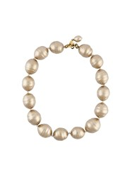 Chanel Vintage Oversized Faux Pearl Choker Nude And Neutrals