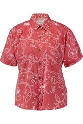 Current Elliott The Western Davis Printed Chambray Shirt Red
