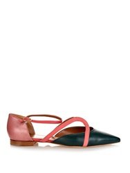Malone Souliers Veronica Leather And Snakeskin Flats