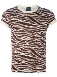 Jean Paul Gaultier Vintage Tiger Stripe Print T Shirt Nude And Neutrals