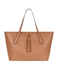 Burberry Shoes And Accessories Medium Honeybrook Leather Tote Female Camel