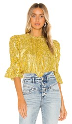 Saylor Pippy Blouse In Yellow. Mustard