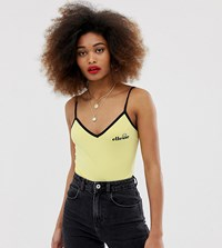 Ellesse Body With Contrast Piping And Chest Logo In Rib Yellow