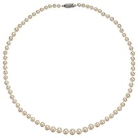 A B Davis Freshwater Pearl Necklace White