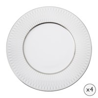 Amara Prism Porcelain Side Plates Set Of 4