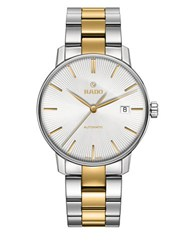 Rado Coupole Classic Stainless Steel And Goldtone Ceramos Bracelet Watch Two Tone