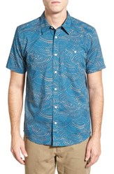 Patagonia Men's 'Go To' Slim Fit Short Sleeve Sport Shirt Water Maker Glass Blue