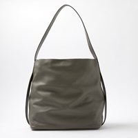 John Lewis Kin By Helen Leather North South Tote Bag Grey