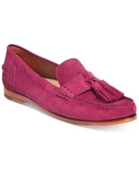 Cole Haan Pinch Grand Tassel Flats Women's Shoes Fuschia