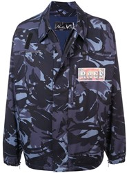 Martine Rose Rage Camouflage Print Jacket Blue